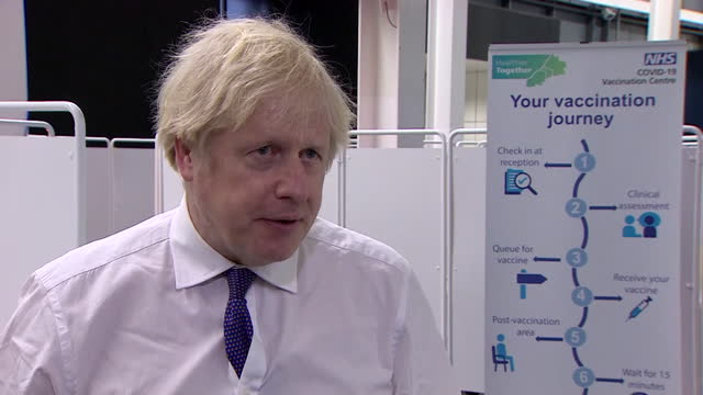 """interview boris johnson pm, about people complying with coronavirus lockdown rules """"now is the time for maximum observance of the rules"""" - politics and government stock videos & royalty-free footage"""