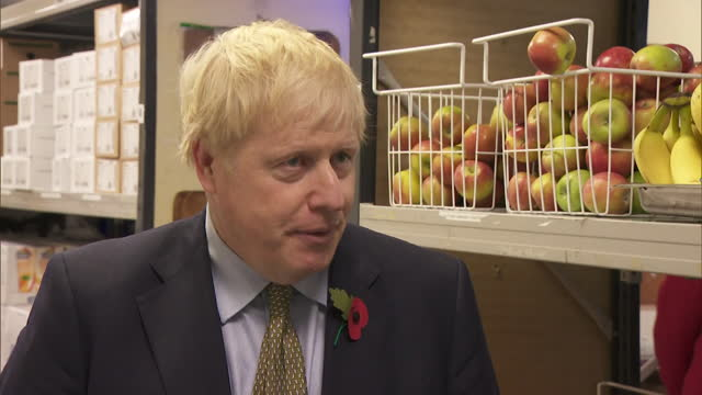 interview boris johnson pm, about the government not offering free school meals in term time but increasing universal credit and extra money to... - b roll stock videos & royalty-free footage