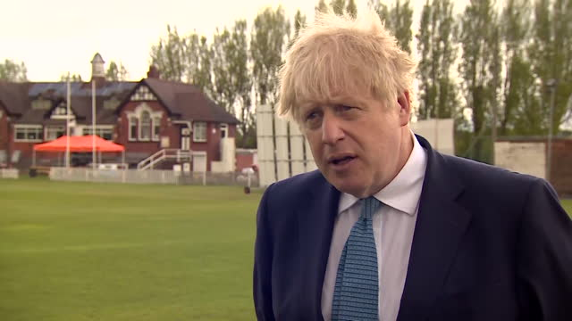 interview boris johnson pm, about the indian delegation to the g7 foreign ministers summit in london having to self isolate after two members tested... - conservative party uk stock videos & royalty-free footage