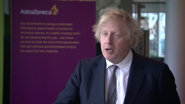 """interview boris johnson pm, about the the proof you could give on a covid status certification or vaccine passport """"immunity, vaccination and testing"""" - biological process stock videos & royalty-free footage"""