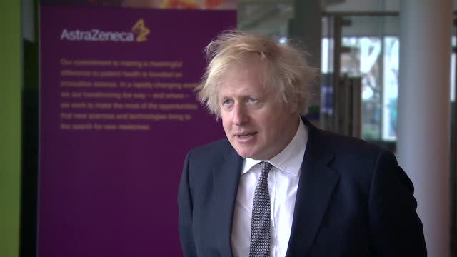 interview boris johnson pm, advises people to listen to the mhra's advice about the astrazeneca covid-19 vaccine being safe, despite a tiny amount of... - side view stock videos & royalty-free footage