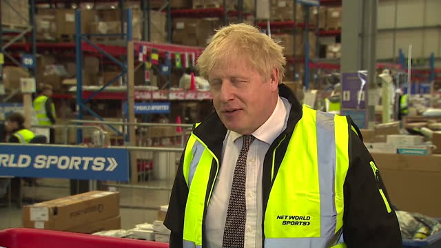 "interview boris johnson pm, denies saying that he would rather ""let the bodies pile high in their thousands"" than agree to another coronavirus... - conservative party uk stock videos & royalty-free footage"