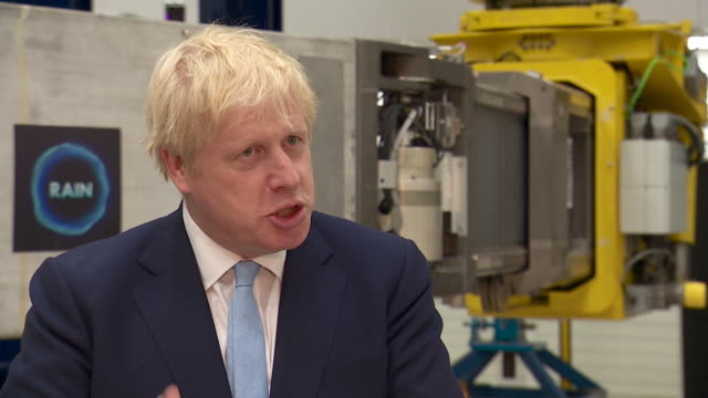 interview boris johnson pm on visit to uk atomic energy authority push forward projects like these where we can take a scientific and commercial lead - oxfordshire stock videos and b-roll footage
