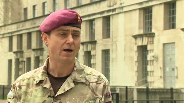 interview brigadier nick perry 16 air assault brigade after soldiers of the parachute regiment used a poster of jeremy corbyn for target practice... - poster stock videos & royalty-free footage