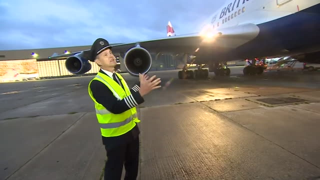 """interview captain allister bridger, ba 747 pilot, about the british airways boeing 747 jumbo jet fleet being retired """"it's iconic and everyone loves... - retirement stock videos & royalty-free footage"""