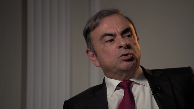 vidéos et rushes de interview carlos ghosn former nissan chief executive on being happier after fleeing japan for lebanon i'm not sure i'm a happy man but i am happier... - ghosn