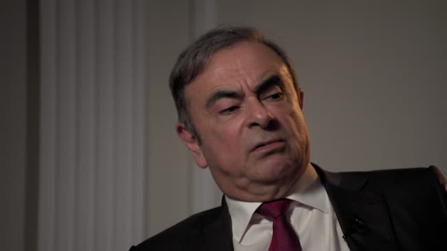 vidéos et rushes de interview carlos ghosn former nissan chief executive on the nissan sunderland plant if britain lose competitiveness in europer then the future of... - ghosn