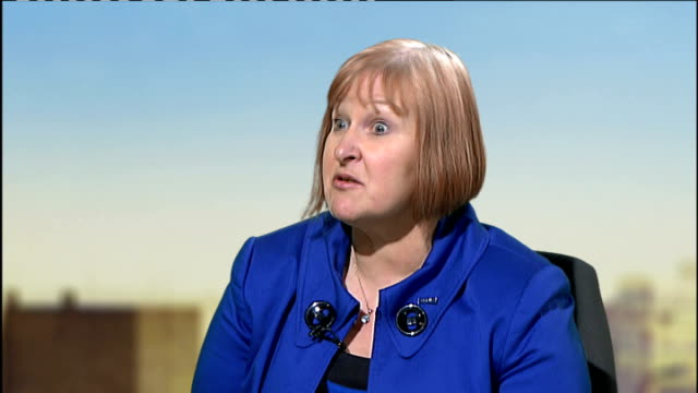 Interview Carole Hagedom on asbestos in schools ENGLAND London INT Carole Hagedorn LIVE studio interview SOT saying 7090% of schools still contain...