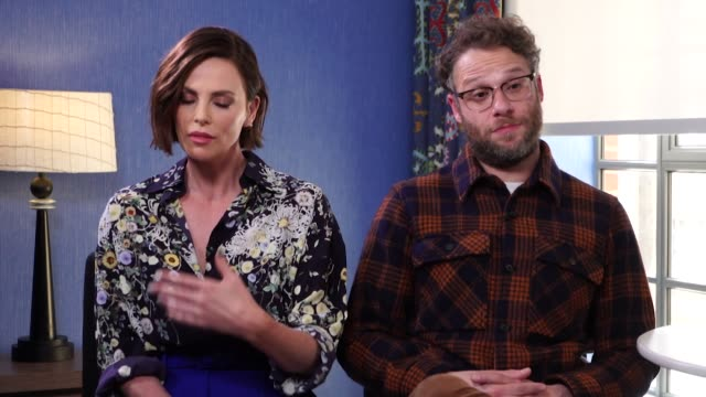 interview charlize theron and seth rogen promoting the film long shot discuss gender inequality - sex discrimination stock videos & royalty-free footage