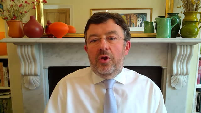 interview chris hopson, ceo nhs providers, about serious cases of covid-19 in hospitals remaining low and generally among those who are young and... - serious stock videos & royalty-free footage