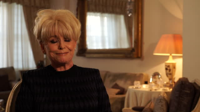 interview dame barbara windsor on how she feels about being awarded a dame in the new years honours list, 2015 - mental illness stock videos & royalty-free footage
