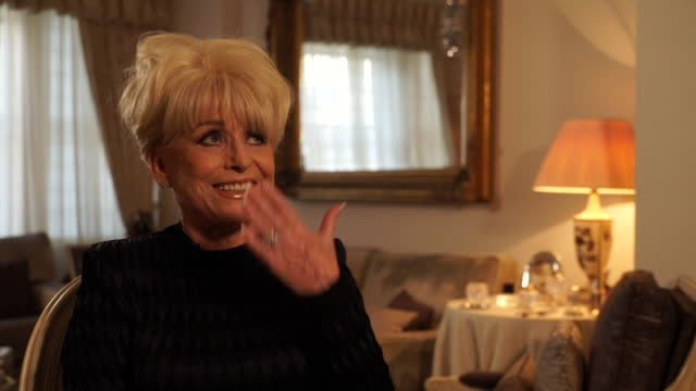 interview dame barbara windsor, on whether she wants to be called dame babs or dame barbara after being awarded a dame in new years honours list, 2015 - mental illness stock videos & royalty-free footage
