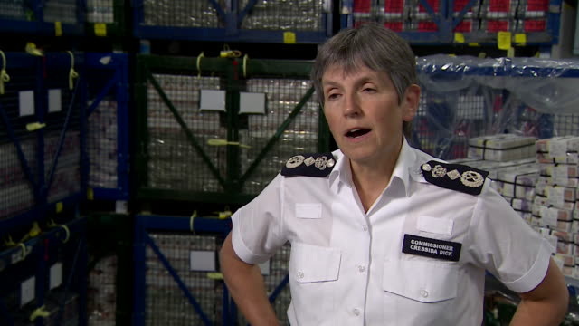 """interview dame cressida dick commissioner metropolitan police about organised criminal crime group being dismantled by breaking their top secret... - """"bbc news"""" stock videos & royalty-free footage"""