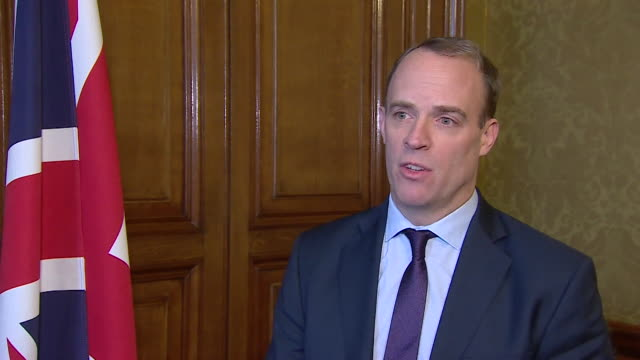 interview dominic raab foreign secretary outraged at detention of simon cheng i summoned the chinese ambassador to see me and made clear it is... - torture stock videos & royalty-free footage