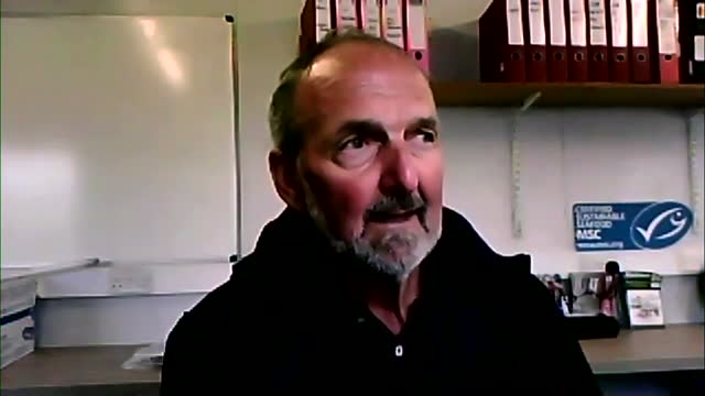 interview don thompson, jersey fishermen's association, about post brexit dispute over french fishing access to jersey's waters - leisure activity stock videos & royalty-free footage