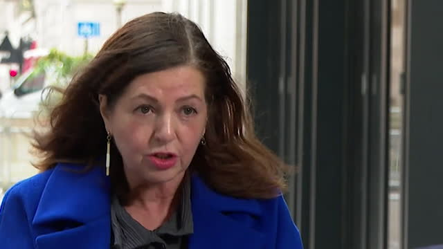 """interview dorothy byrne, editor at large channel 4, about opinon led broadcasting changing the media landscape """"we do not need further division where... - transparent stock videos & royalty-free footage"""