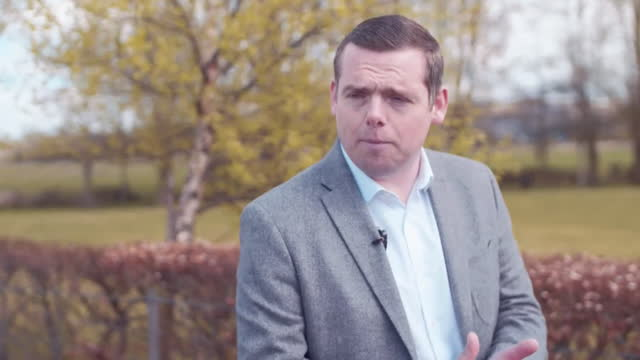 """interview douglas ross mp, leader scottish conservatives, about why people should vote for his party in the scottish elections """"vote for us to stop... - concepts stock videos & royalty-free footage"""