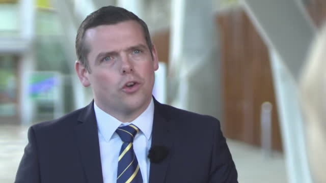interview douglas ross mp msp, leader scottish conservatives, about the uk government working better for the scottish people - horizontal stock videos & royalty-free footage