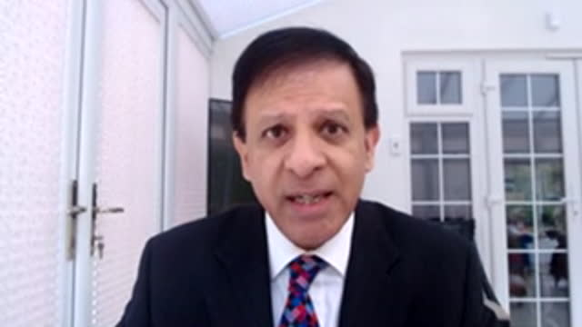 interview dr chaand nagpaul, chair bma, about the uk's approach of 12 week delay between first and second dose of covid-19 vaccine - trade union stock videos & royalty-free footage