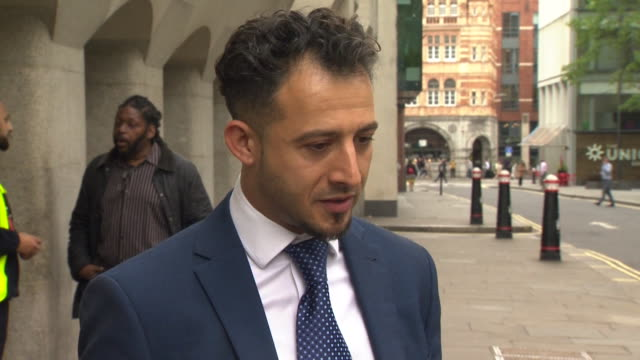 interview dr jonathan moses outside the old bailey about helping stab victims on the night of the london bridge terror attacks - inquest stock videos & royalty-free footage