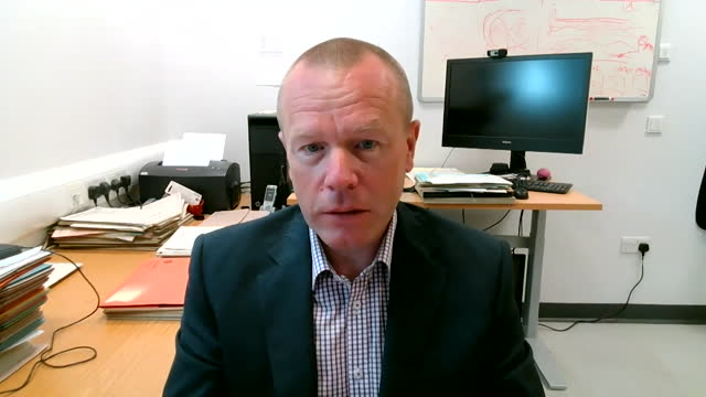 interview dr william stewart, neuropathologist, glasgow university, about dangers of dementia when heading a ball in football - ball stock videos & royalty-free footage