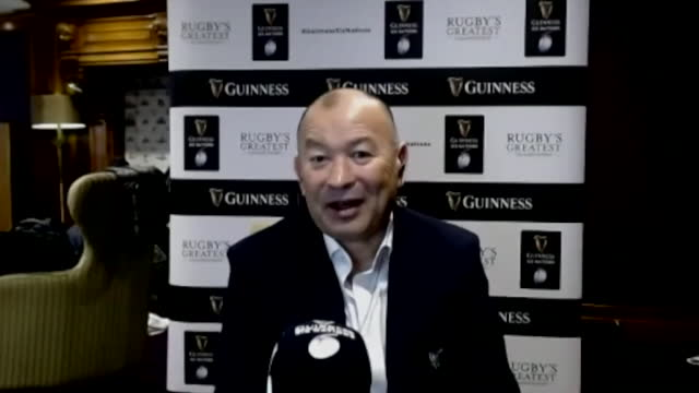 """interview eddie jones, england rugby union head coach, about performance during the coronavirus pandemic ahead of the six nations """"we'll have a... - national team stock videos & royalty-free footage"""
