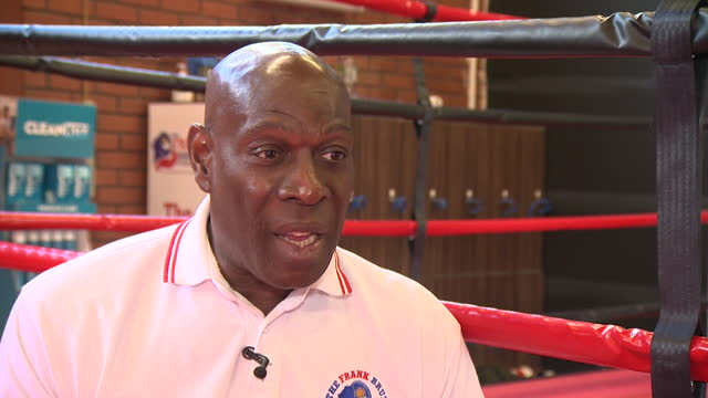 interview frank bruno, former world heavyweight boxing champion, at one of his community centres in northampton, about coronavirus lockdown making... - competition stock videos & royalty-free footage