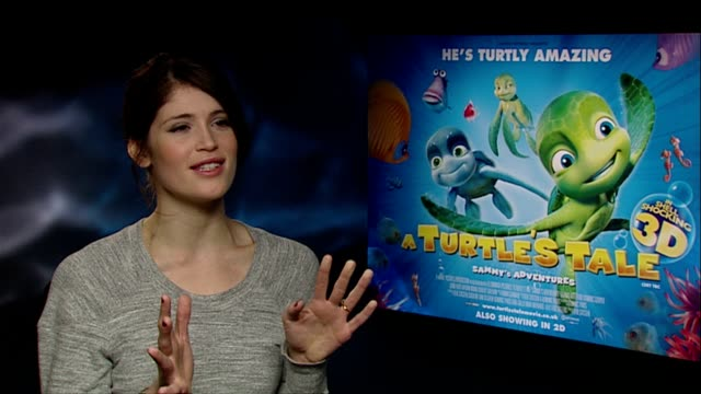 Gemma Arterton on relating to the love theme of the story believing in everlasting love at the A Turtle's Tale Interviews at London England