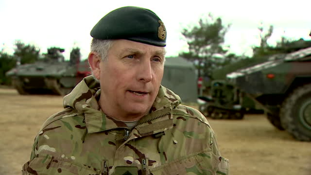 interview general sir nick carter, chief of defence staff, about the defence review, which is likely to lead to cuts in the size of the army to fund... - 海兵隊員点の映像素材/bロール