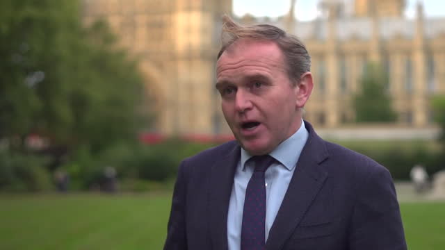 interview george eustice, environment secretary, about abbatoir workers from abroad to given temporary visas to come to uk, to help the pig industry... - healthy lifestyle stock videos & royalty-free footage