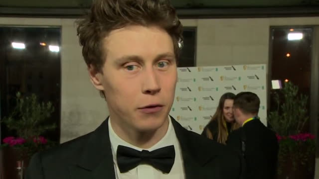 interview george mackay at bafta film awards 2020, after 1917 won 7 awards, including best film - 1917 stock videos & royalty-free footage