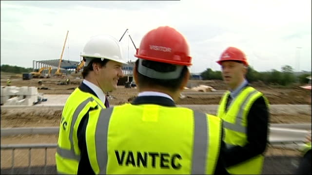 interview george osborne chancellor of the exchequer england north east sunderland ext gvs george osborne mp with officials during tour of... - north east england stock videos and b-roll footage