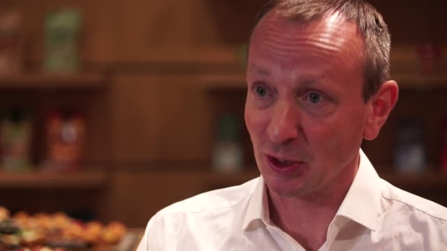interview giles hurley ceo aldi uk announces the expansion of the business by expanding and upgrading their supermarket network - e commerce stock videos & royalty-free footage