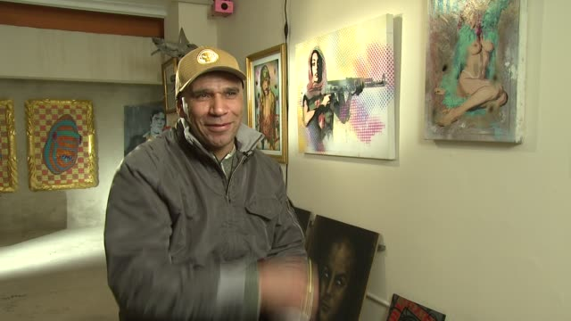 goldie on how different styles and views on art make art so diverse and interesting experience he talks about how some artists are bigger than their... - goldie stock videos & royalty-free footage