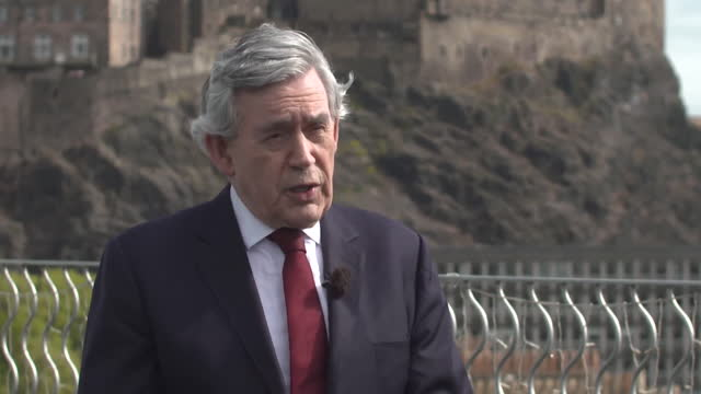interview gordon brown, former labour prime minister, about allowing labour leader keir starmer time in his role to bring forward new policies - horizontal stock videos & royalty-free footage