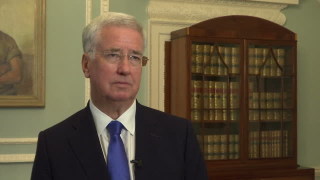 Interview grab Secretary of State for Defence Sir Michael Fallon saying the cabinet is united behind Prime Minister Theresa May as well as Foreign...