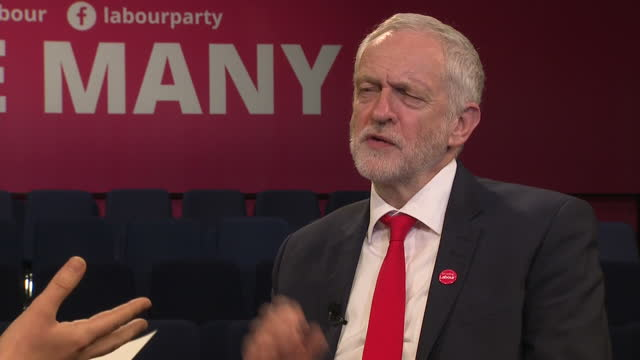 interview grab with labour party leader jeremy corbyn regarding the labour briefing magazine and a controversial 1984 editorial regarding the ira... - editorial stock videos & royalty-free footage