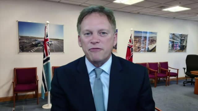 interview grant shapps mp, transport secretary on government investment in green energy to help hit the uk target of zero carbon emmissions by 2050 - mineral stock videos & royalty-free footage