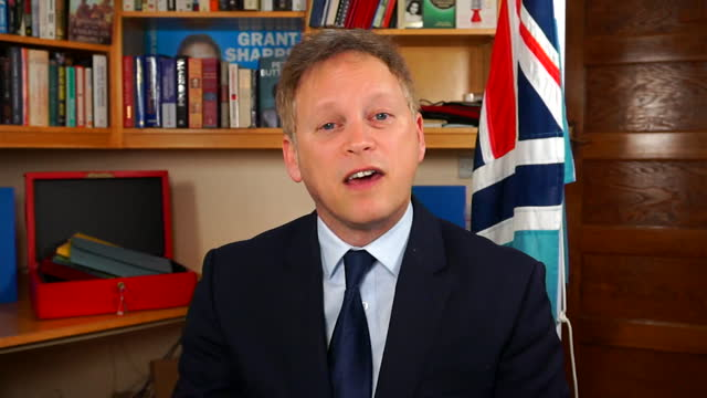 interview grant shapps, transport secretary, about all visitors to the uk needing to have proof of a negative covid test before they're allowed to... - desire stock videos & royalty-free footage