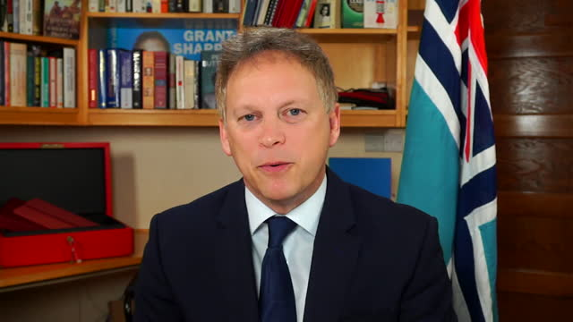 "interview grant shapps, transport secretary, about banning flights into the uk from south america, due to the brazilian variant of coronavirus - ""bbc news"" stock videos & royalty-free footage"