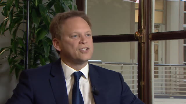 interview grant shapps transport secretary about thomas cook going into administration i took the decision that we can't leave brits stranded abroad... - repatriation stock videos & royalty-free footage