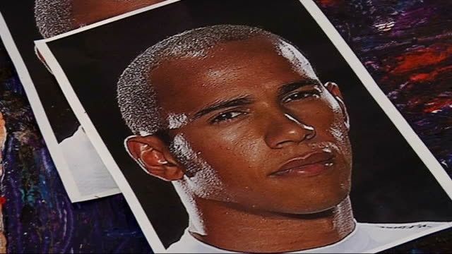 interview ian cook on portrait of lewis hamilton painted using remote controlled cars various gvs of hamilton portrait and photogrsphs beside - remote controlled stock videos and b-roll footage