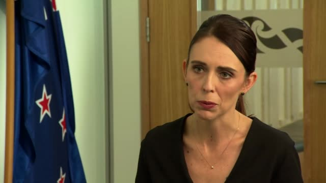 interview jacinda ardern prime minister of new zealand speaks about the terror attack at the mosque in christchurch - new zealand stock videos & royalty-free footage