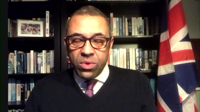 interview james cleverly, foreign office, about needing to give hotels, airports and border force notice to prepare for the coronavirus hotel... - desire stock videos & royalty-free footage