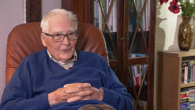 interview james lovelock talks about his invention the electron capture detector that can measure cfc's in the ozone layer - electron stock videos and b-roll footage