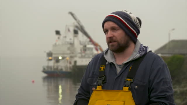 "interview jamie mcmillan, loch fyne langoustines, about the effect on his business due to import delays at eu borders for seafood post brexit,... - ""bbc news"" stock videos & royalty-free footage"