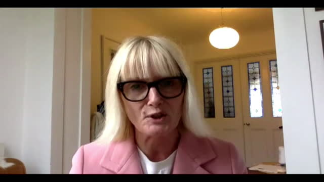 """interview jane stephenson, ceo my wardrobe hq, about online retail businesses doing better than traditional stores after collapse of arcadia """"asos... - tradition stock videos & royalty-free footage"""