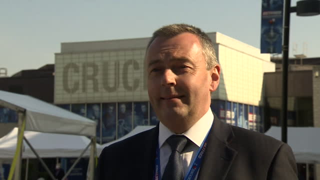 """interview jason ferguson, world snooker association, about holding a test pilot for indoor events during coronavirus pandemic at world snooker... - """"bbc news"""" stock videos & royalty-free footage"""