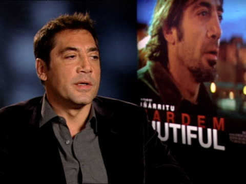 Javier Bardem on celebrity culture at the INTERVIEW Biutiful at London England