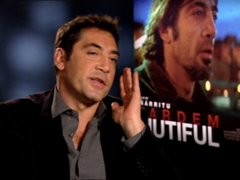 Javier Bardem on his working mentality at the INTERVIEW Biutiful at London England